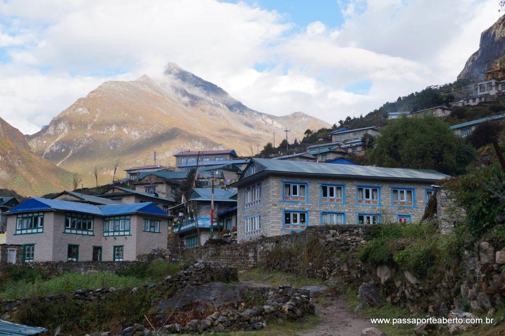 Vista do Lodge em Thamo