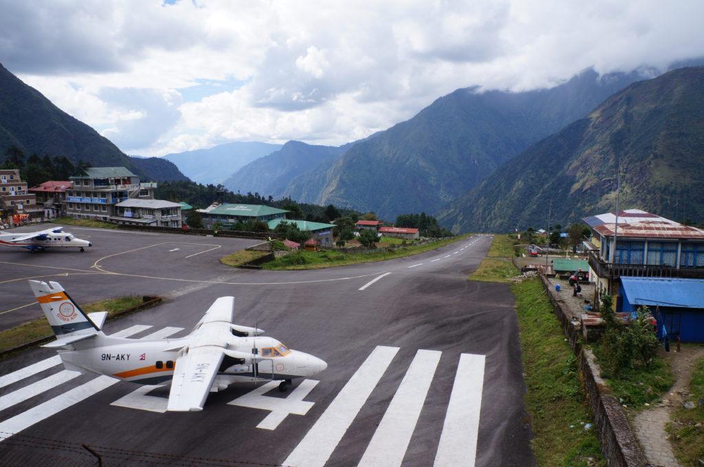 Pista do aeroporto de Lukla!