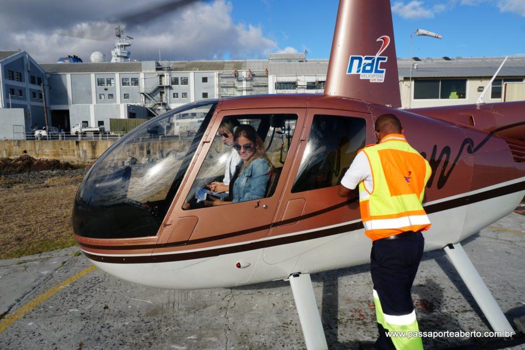Helicóptero pequenininho do nosso passeio!