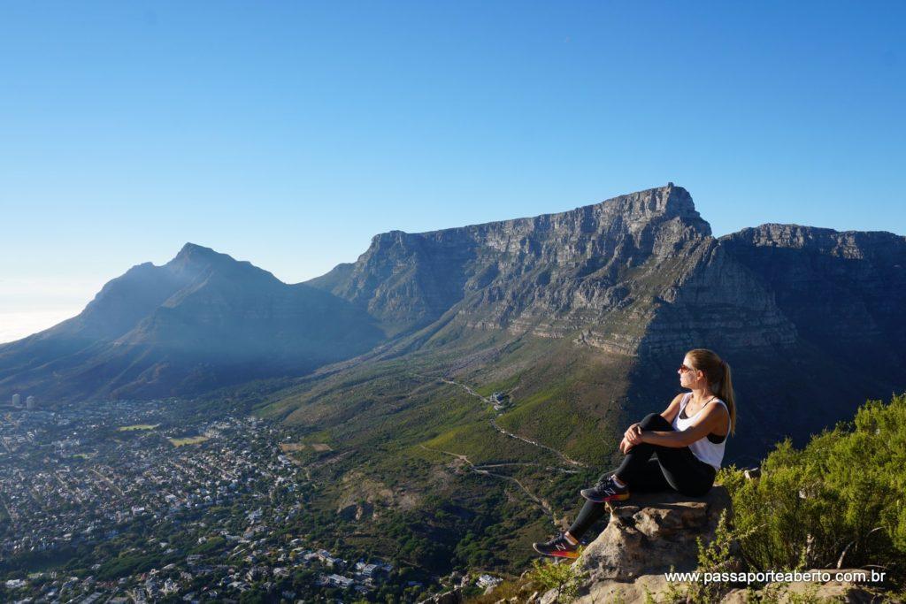 Vista da Table Mountain do topo do Lion´s Head