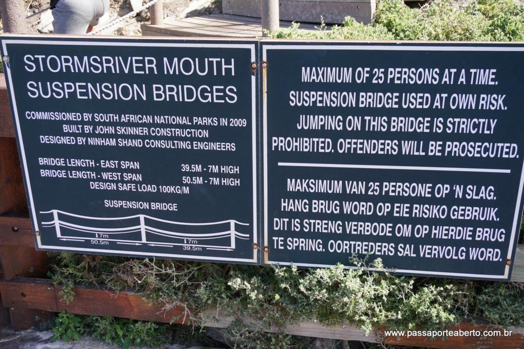 Sobre as pontes suspensas do parque