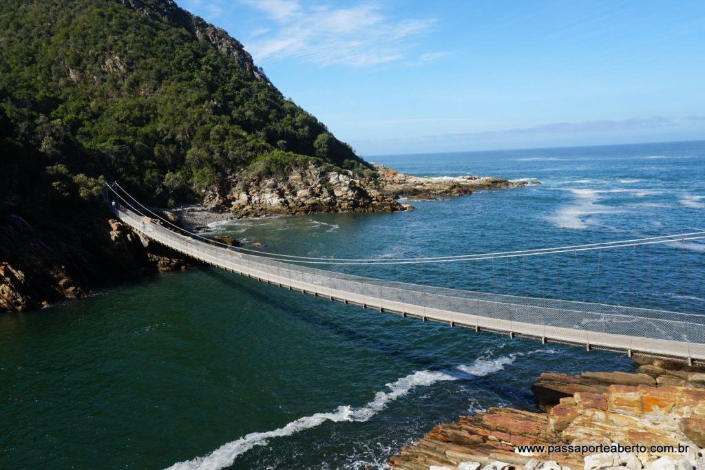 A ponte suspensa de Storms River Mouth!