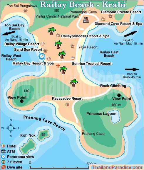 Mapa de Railay Beach!