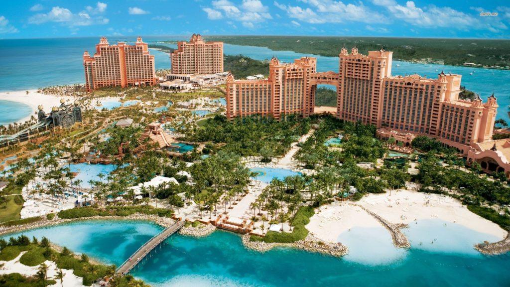 Vista aérea do Atlantis Bahamas!