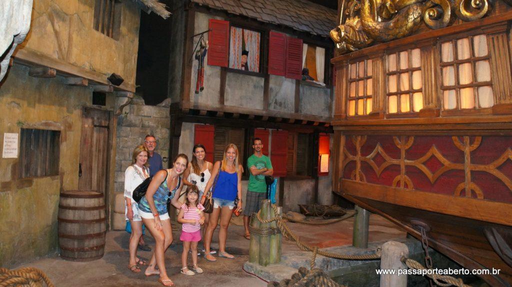 Na vila montada dentro do museu que mostra como era a vida dos piratas!
