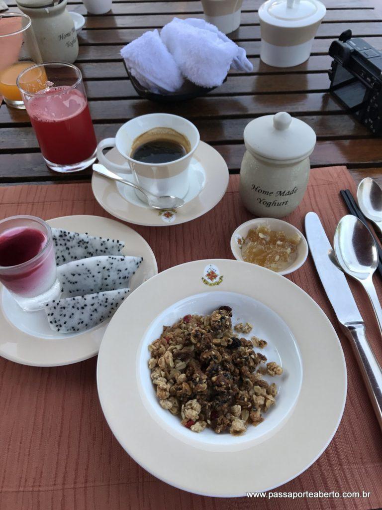 Café da manhã maravilhoso!