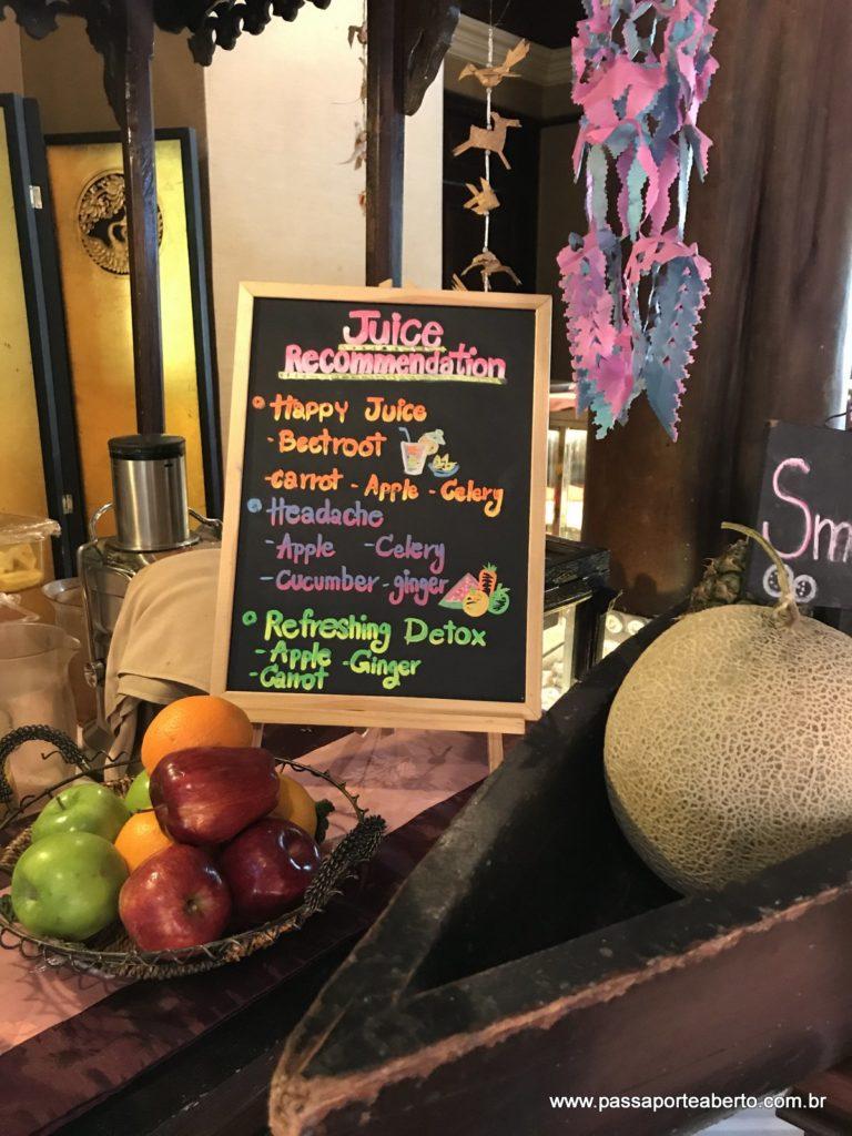 Opções de sucos funcionais e smoothies!